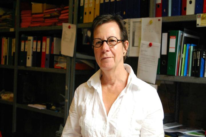 Patsy Sorensen, drejtoreshë e Payoke, organizata kundër trafikimit në Antverp. Foto: Lindita Çela