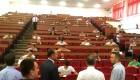 Rektori i UPZ Ramë Vataj viziton studentët gjatë një testi | Foto: Facebook