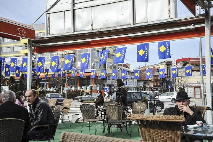 Qyteti i Gjilanit me flamuj t ë Kosovës | Foto: Atdhe Mulla