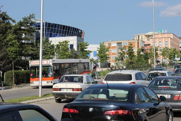 Pamje nga trafiku rrugor në Prishtinë   Foto nga Rron Gjinovci