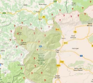 Ndarja e kufijve sipas marrëveshjes së demarkacionit është ende e paqartë për publikun | Foto: përpunim mbi Google Maps