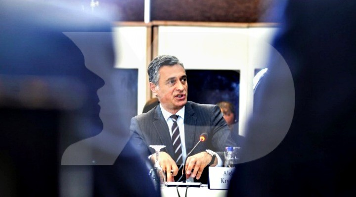 Kryeprokurori i Shtetit Aleksandër Lumezi në konferencë | Foto: Petrit Rrahmani