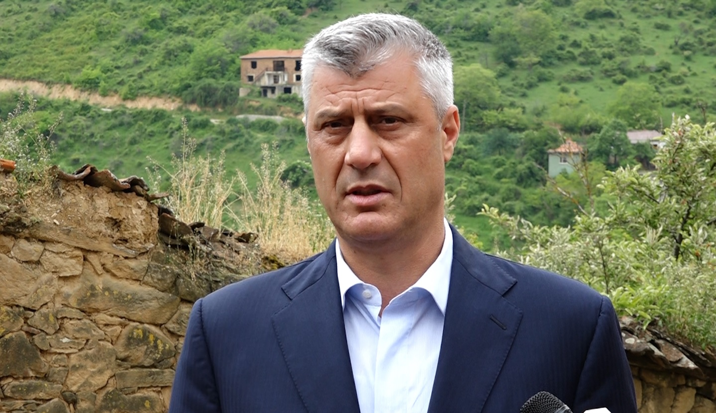 Hashim Thaçi, President i Kosovës, gjatë vizitvs në Janjevë. I Foto: Kallxo.com