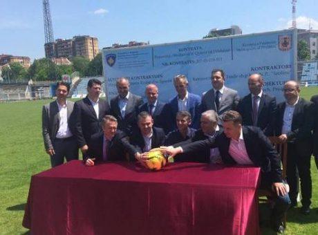 Kontrata për renovimin e stadiumit | Foto: KALLXO.com