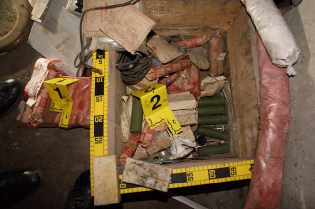 Mjetet shpërthyese të zbuluara | Foto: Policia e Kosovës