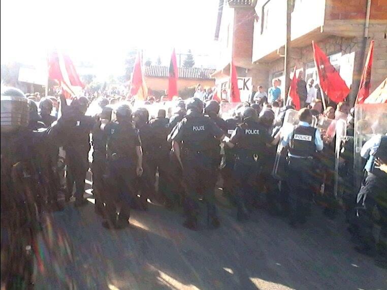 Ndërhyrja e policisë në Mushtisht | Foto; KALLXO.com