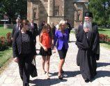 Jill Biden gjatë vizitës  në Manastirin e Graçanicës | Foto: KALLXO.com