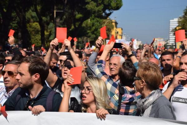 Marshimi kundër importit të plehrave | Foto: Ivana Dervishi