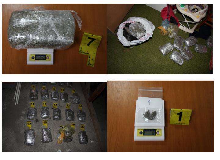Narkotik që dyshohet të jetë marihuanë, i konfiskuar nga Policia-Foto: PK