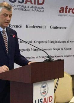 Hashim Thaçi në konferencë | Foto: KALLXO.com