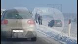 Aksident për shkak të akullit në rrugën drejt Aeroportit - Foto: KALLXO.com