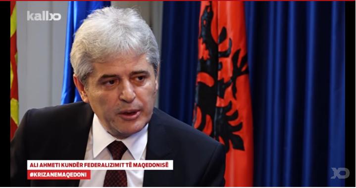 """Lideri i BDI-së, Ali Ahmeti, në intervistën për emisionin """"Jeta në Kosovë"""" - Foto: KALLXO.com"""