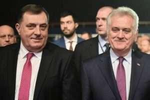 Dodik dhe Nikolic Photo by Beta