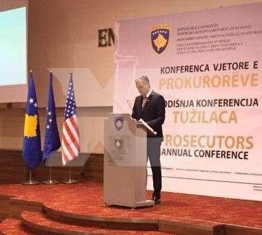 Aleksandër Lumezi në konferencën e prokurorëve | Foto: KALLXO.com
