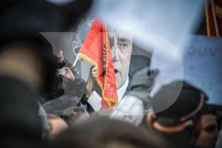 Nga protesta e sotme për Haradinajn | Foto: Atdhe Mulla