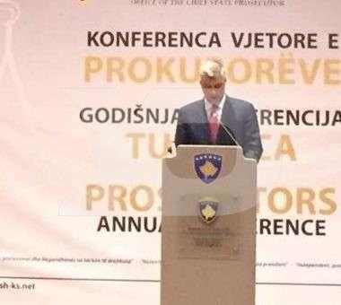 Hashim Thaçi në konferencën e prokurorëve | Foto: KALLXO.com