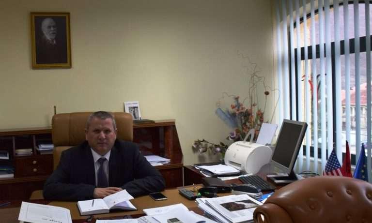 Adem Lala, kryetari i Bashkisë së Krumës. | Foto: Aleksandra Bogdani