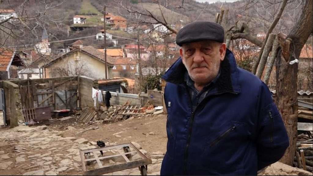 Pensionisti Nikola Karamatiq, kroat i Janjevës. Foto: Kallxo.com