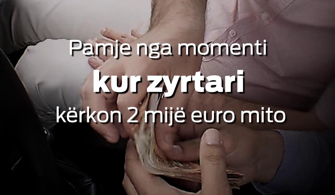 Gjilan  Filmohet skandali i korrupsionit  zyrtari merr 2 mijë euro mito