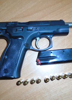 Pistoleta e konfiskuar nga policia