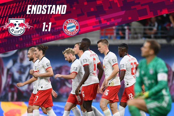 Leipzig e ndal Bayernin dhe e ruan kreun e tabelës