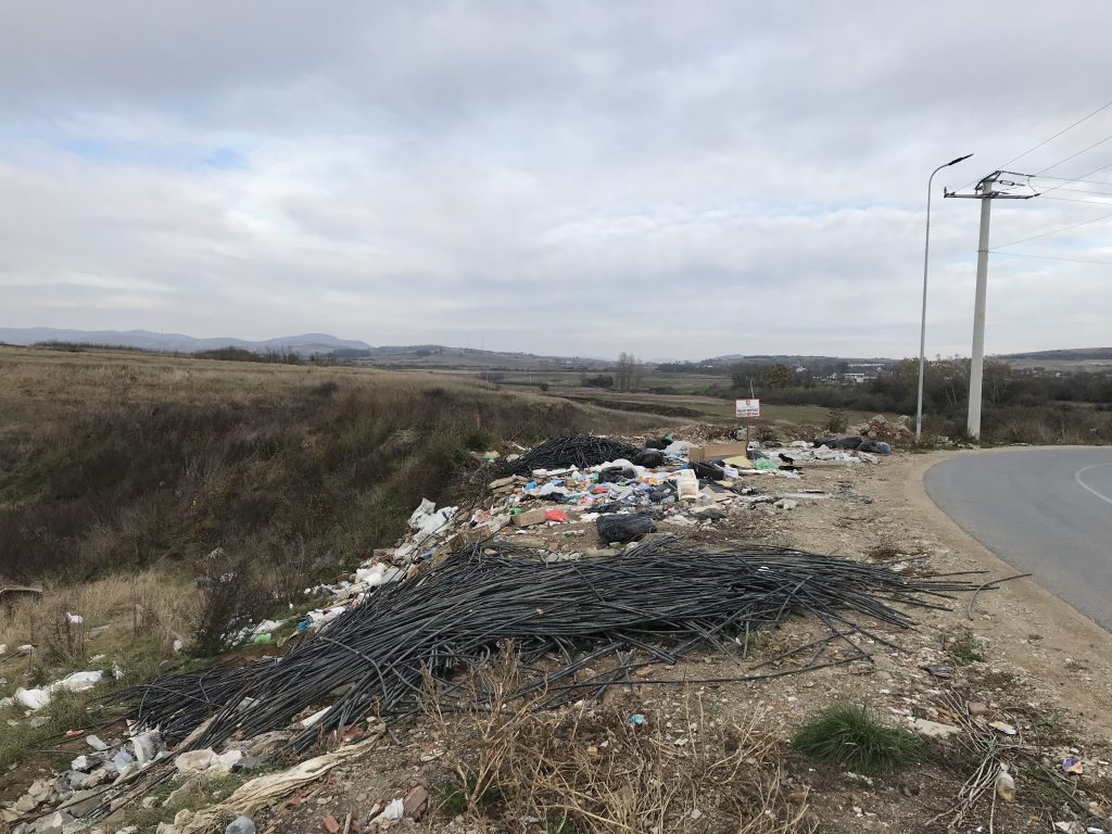 Deponi ilegale në fshatin Shtedim